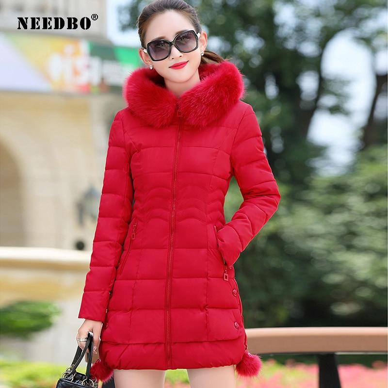 Зимняя женская куртка, длинная парка с мехом и капюшоном, повседневные женские зимние пальто оверсайз, куртки-пуховики, парка с подкладкой, ...