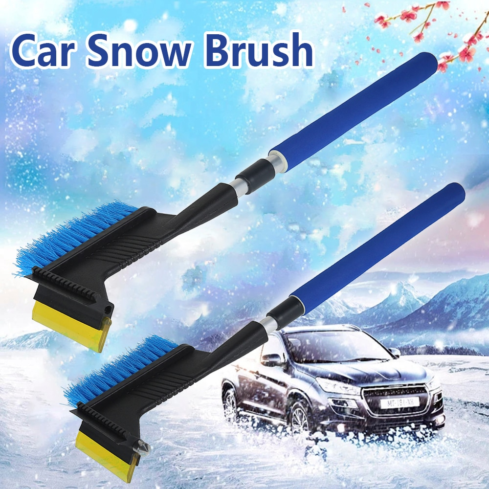 Multifunctional Snow Brush,Telescopic Snow Brush Effortless Snow Removal Winter Defrost Tool for Car Window