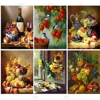 5d diy diamond painting fruits and flowers cross stitch kit children gift home decoration embroidery mosaic complete kit artwork