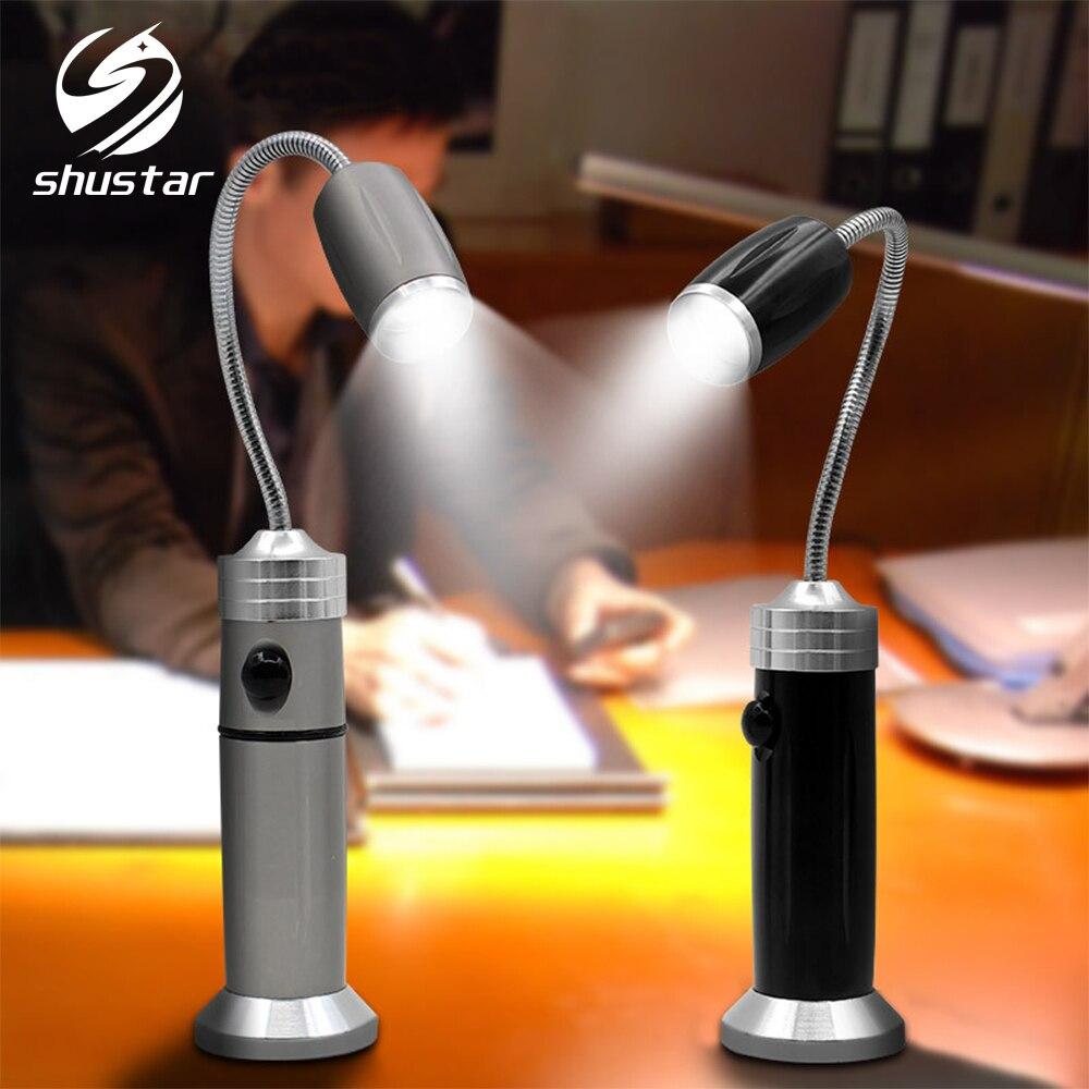 Linterna LED flexible luz de trabajo súper brillante Lámpara de camping impermeable, zoom giratorio, 3 modos de iluminación con imán de cola