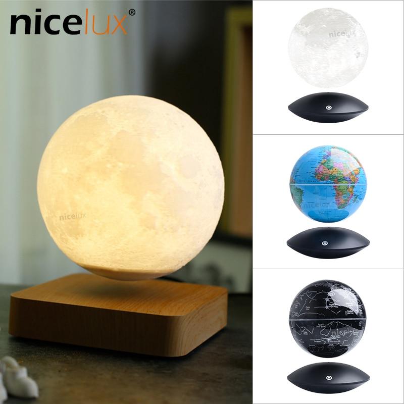 3D Magnetic Levitating Moon Lamp Night Light Rotating Wireless LED Globe Constellation Ball Light Floating Lamp Novelty Gifts