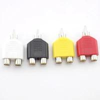 3 5mm rca jack 1 male to 2 female y splitter av audio video plug adapter converter rca plug to double connectors accessories u27