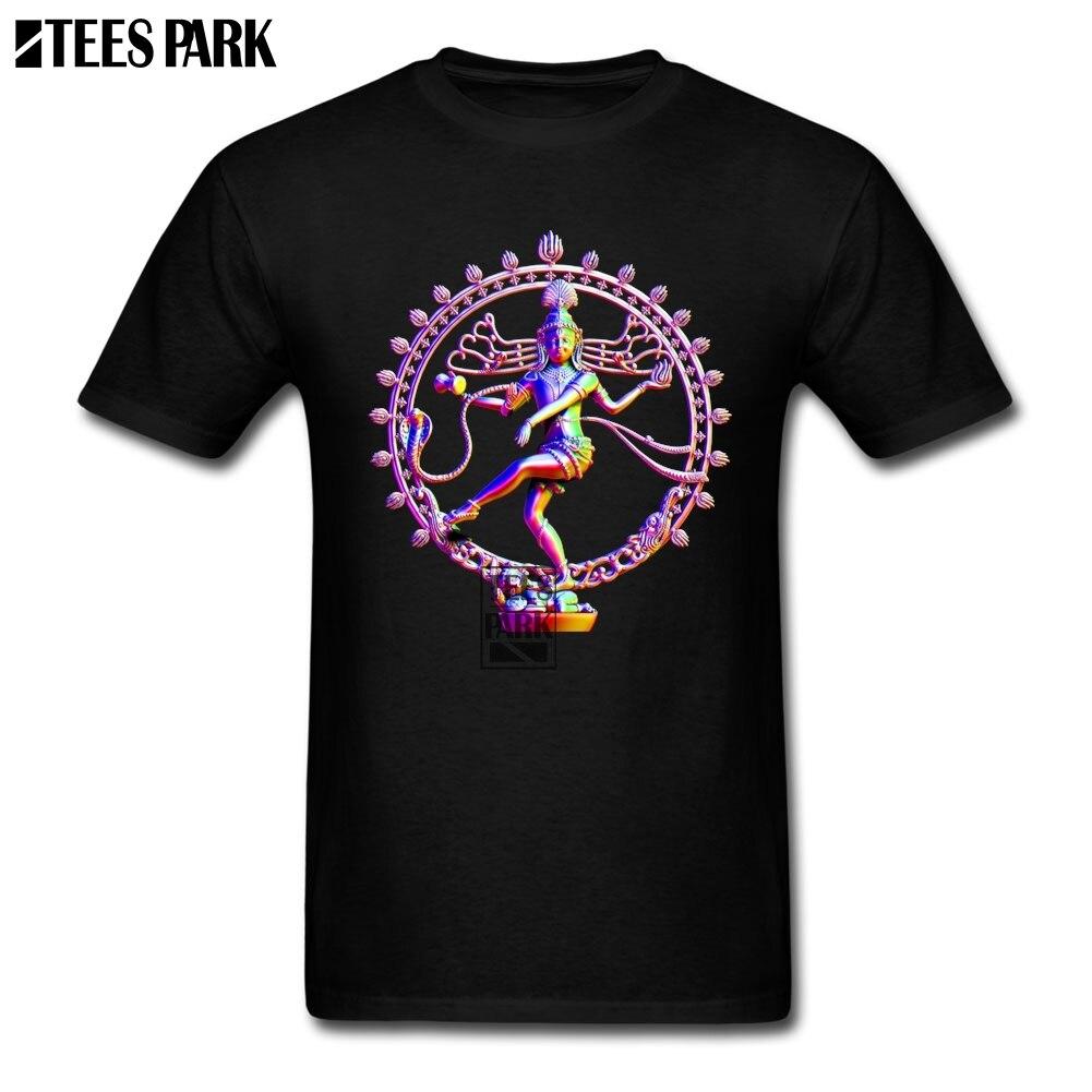 Vintage Rainbow Tops ropa Indians God Shiva Nataraja camisetas para la venta adulto algodón camiseta al por mayor Youth camisetas