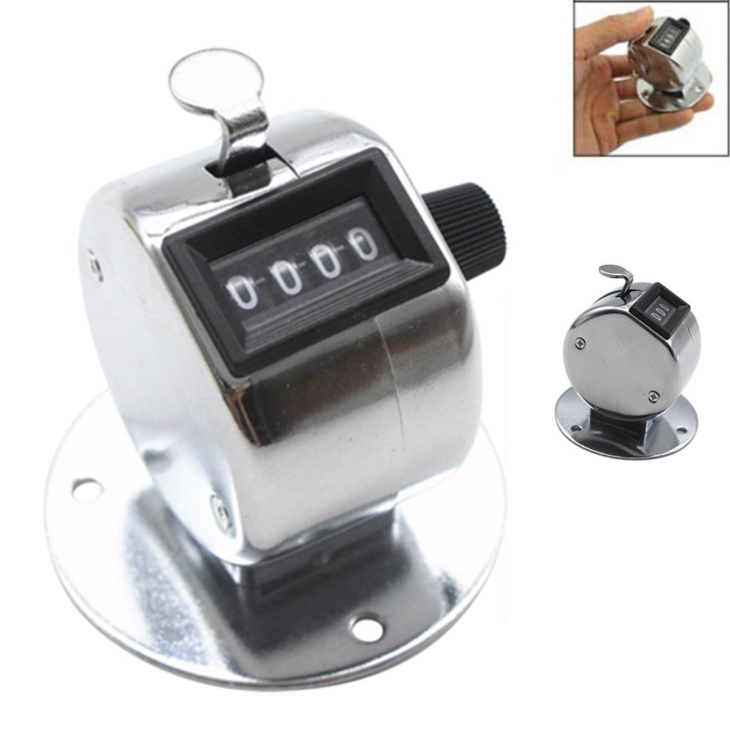 Contador mecánico de 4 dígitos, contador Manual para hacer clic, contador de mano deportivo para correr, contador de pasos portátil