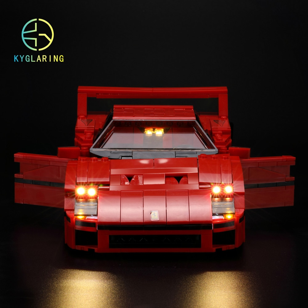 Kit de lumière LED (lumière seulement incluse) pour la voiture technic 10248 et 21004 de la série F40 de créateur