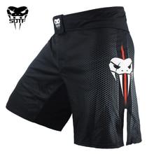 Homme noir mma combat boxe Fitness respirant séchage rapide pantalon short de boxe muaythai shorts tigre Muay Thai shorts mma boxeo
