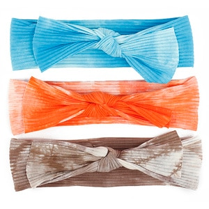 Fashion Baby Girls Big Bow Cotton headbands Kids Childs Toddler Cute Ribbed Elastic Hair band Accessories headwrap For Girls