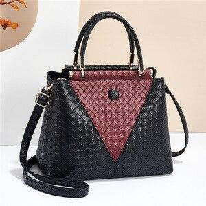2021 Autumn Winter Fashion Handbag Woven Simple Middle-aged Women's Bag Single Shoulder Messenger Bag