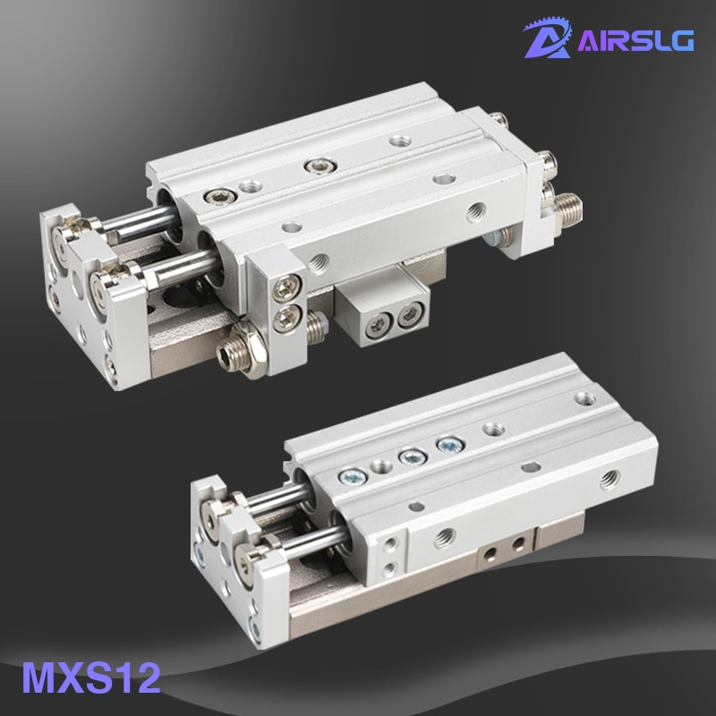 MXS MXS12-50 MXS12-50A -50AS -50AT MXS12-50B MXS12-50BT MXS12-50BS MXS12-50C -50CS MXS12-50CT الشريحة دليل اسطوانة الهوائية