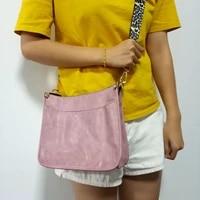 popular pu bag leopard print messenger bag fashion solid color single shoulder bag cross border retro female handbags