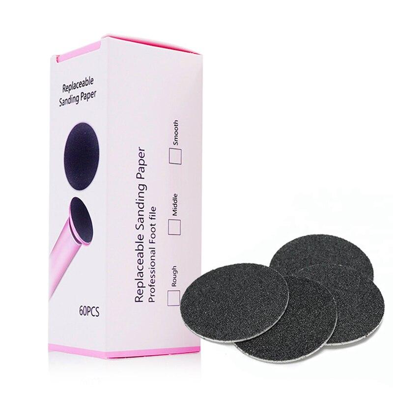 60 шт. сменный песочный бумажный диск шлифовальная бумага аксессуар для электрической ноги инструмент для удаления мозолей педикюр пилка для ног 60 ⑤ кор.