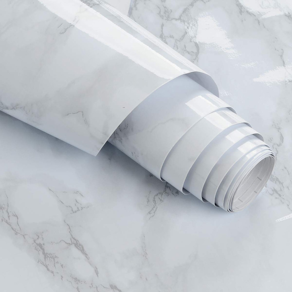 60x100cm impermeable PVC papel de pared de mármol autoadhesivo cocina gabinete para mostrador muebles pegatina de granito