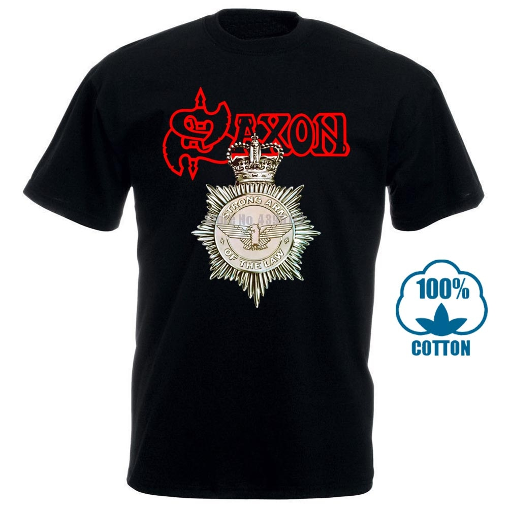 Camiseta Saxon Strong Arm Of The Law S M L Xl, nueva camiseta oficial 011324