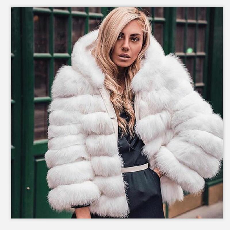 2020Women's Natural Fox Fur with Short Hat Sleeve Detachable Four-in-one Real Fox Fur Coat European Stand Winter Warm Fashion C