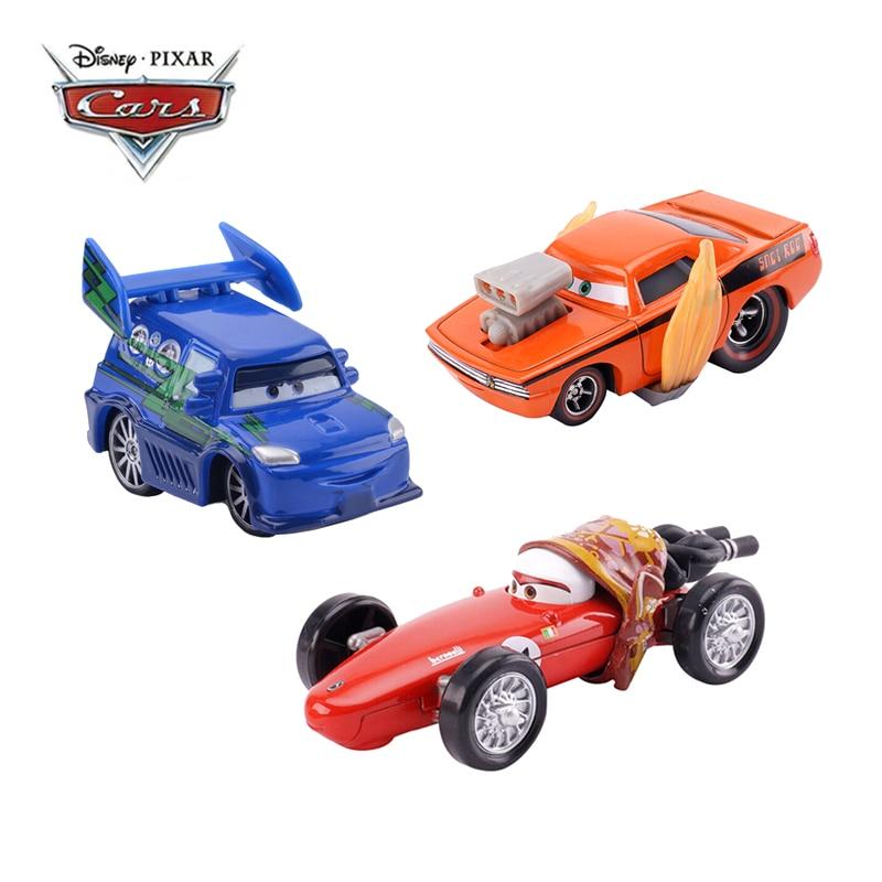 Disney Pixar coches 3 coches Rayo McQueen llamas DJ Rotz madre Jackson tormenta 155 fundición de aleación de Metal de juguete modelo de coche regalo de los niños