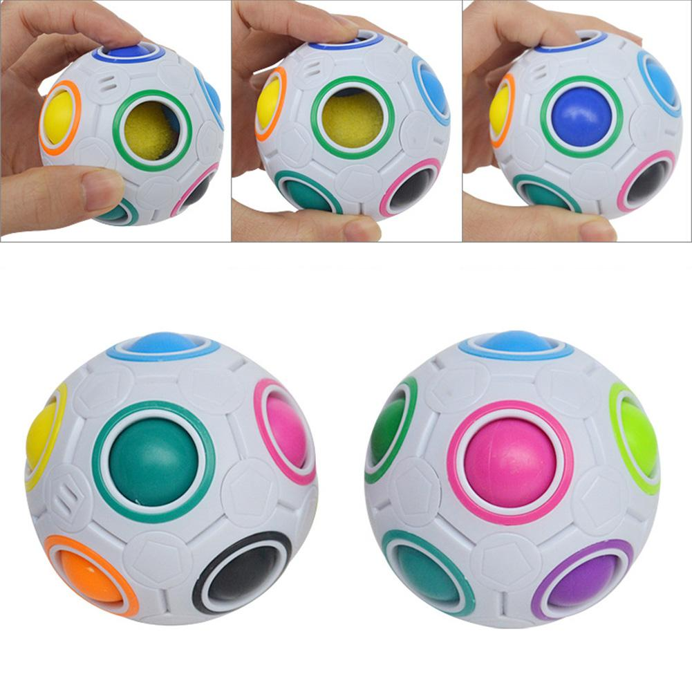 Creative Mini Magic Rainbow Football Puzzle Ball Educational Learning Funny Fidget Toys Skillful Design and Exquisite Appearance