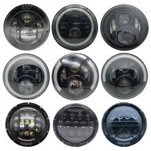 "Motorcycle Angel Eye H4 7 ""Light Emitting Diode Led/7 Vaste Beugel Vaste Beugel Voor Jeep 4X4 Convertible suv Véhicule"
