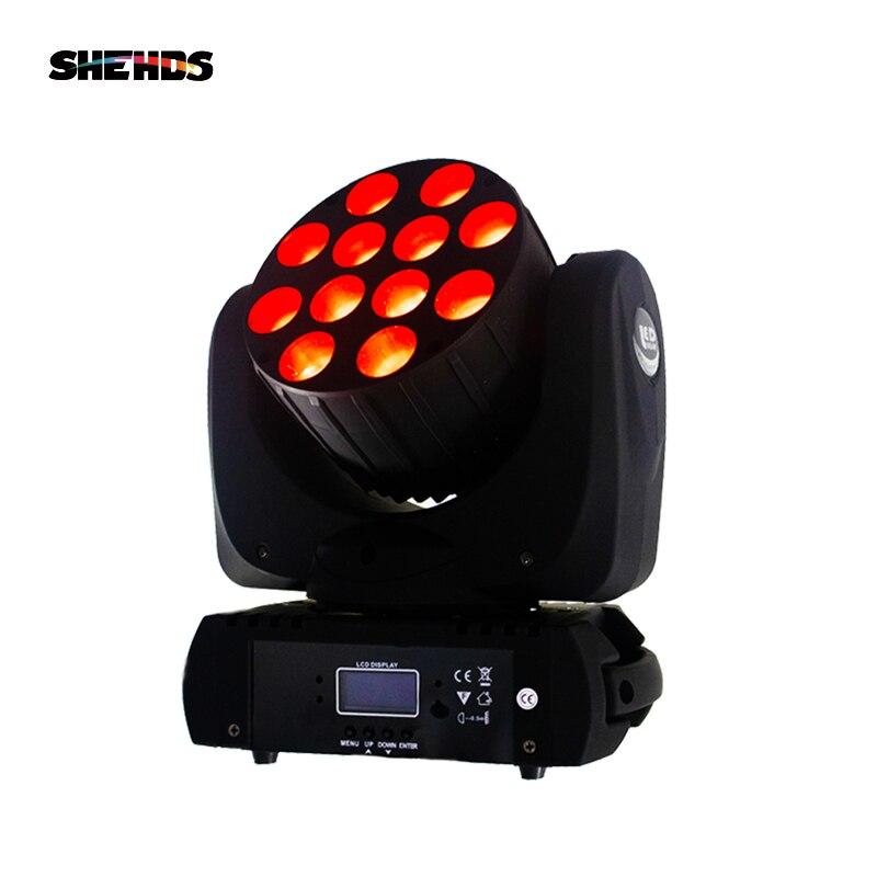 ضوء LED مع شعاع DJ 12X12W RGBW ورأس متحرك ، إضاءة مسرح احترافية مع وحدة تحكم DMX