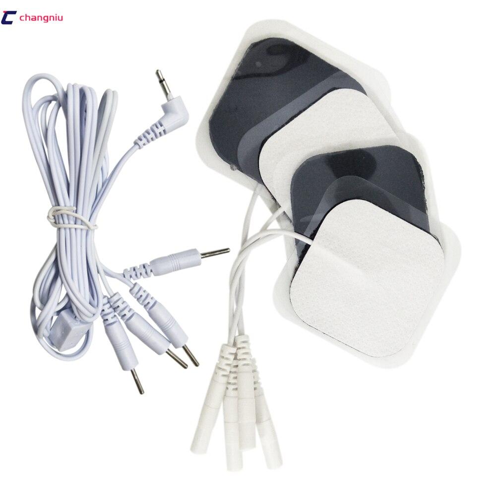 Electrodos cuadrados autoadhesivos para máquina TENS, CC + 1 unidad de almohadillas...