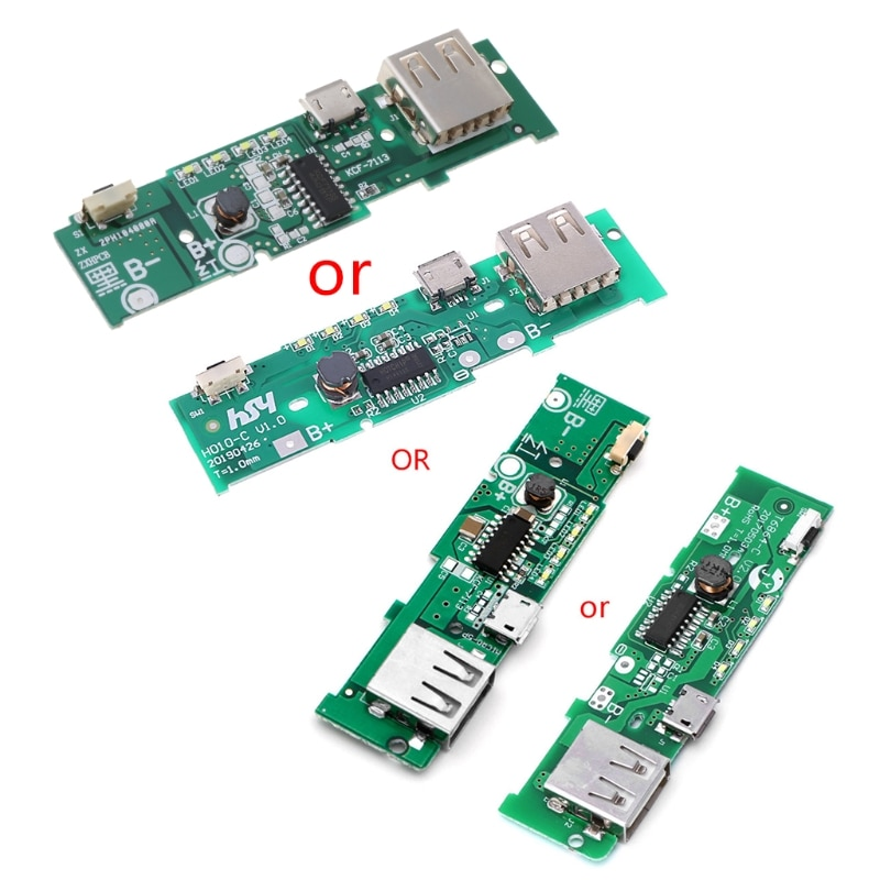 USB 5V 2A Mobile Phone Power Bank Charger PCB Board Module For 18650 Battery