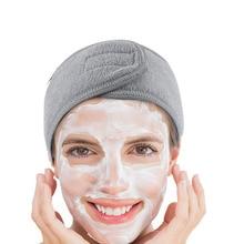 Spa Facial Hoofdband Maken Badstof Hoofd Hoofdband Stretch Handdoek Met Magic Tape Verstelbare Make Hoofdband Douche Caps