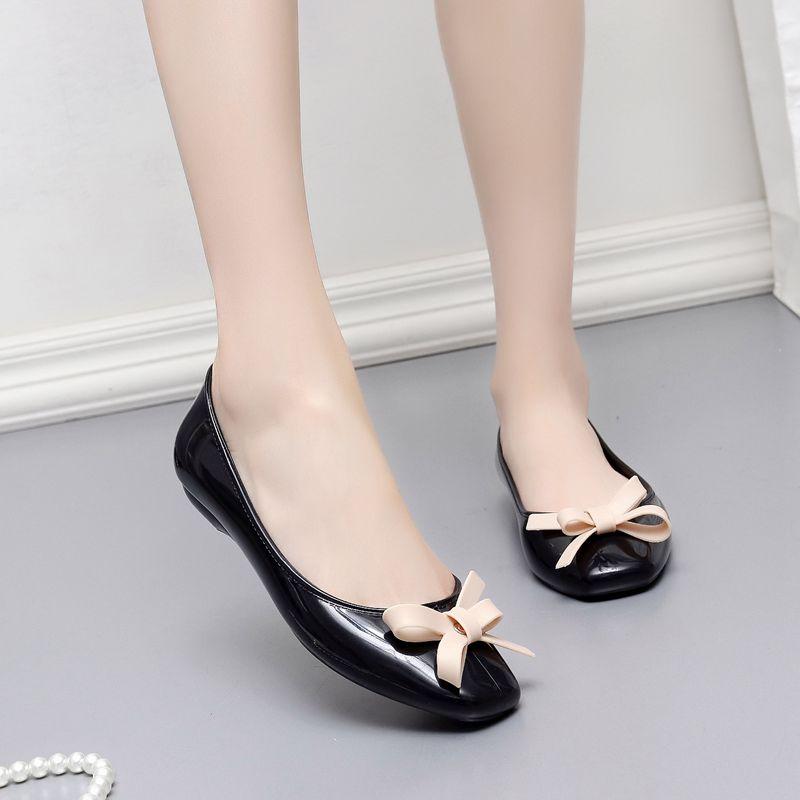 De moda De las mujeres De oficina blanco Zapatos Planos para dama...