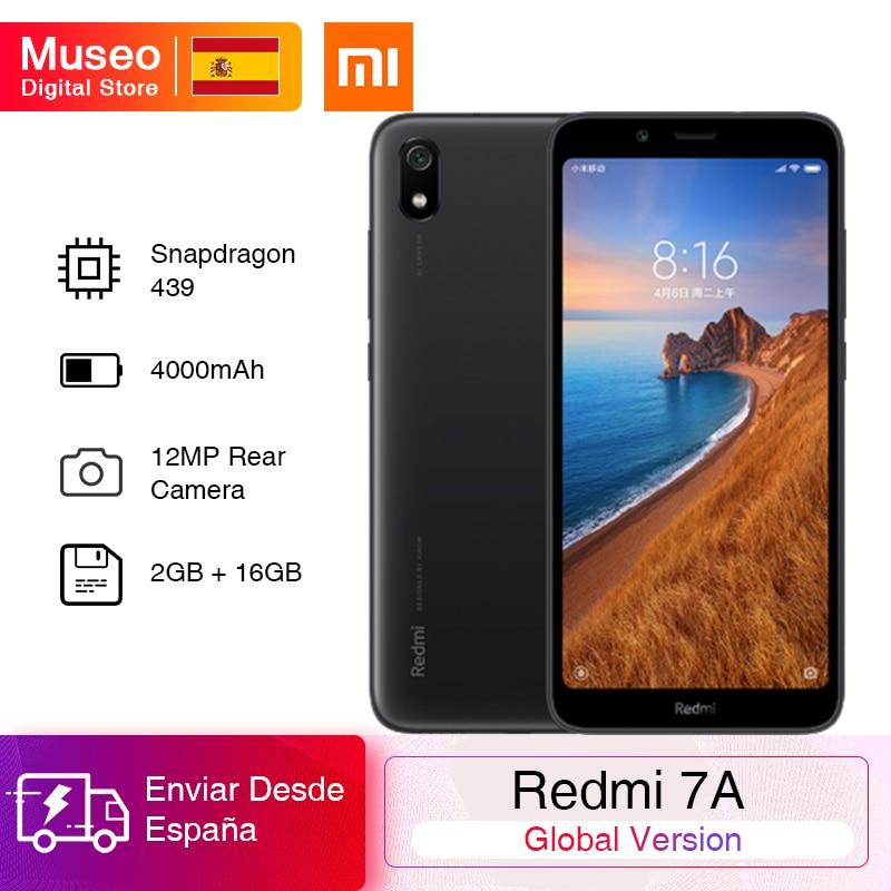 Смартфон Xiaomi Redmi 7A, глобальная версия, 2 ГБ 16 ГБ, экран 5,45 дюйма, восьмиядерный процессор Snapdragon 439, 4000 мАч, смартфон с камерой 12 Мп