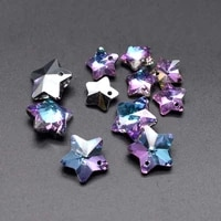 five pointed star faceted crystal glass beads heart butterfly shape color glass beads for jewelry making diy earring necklace