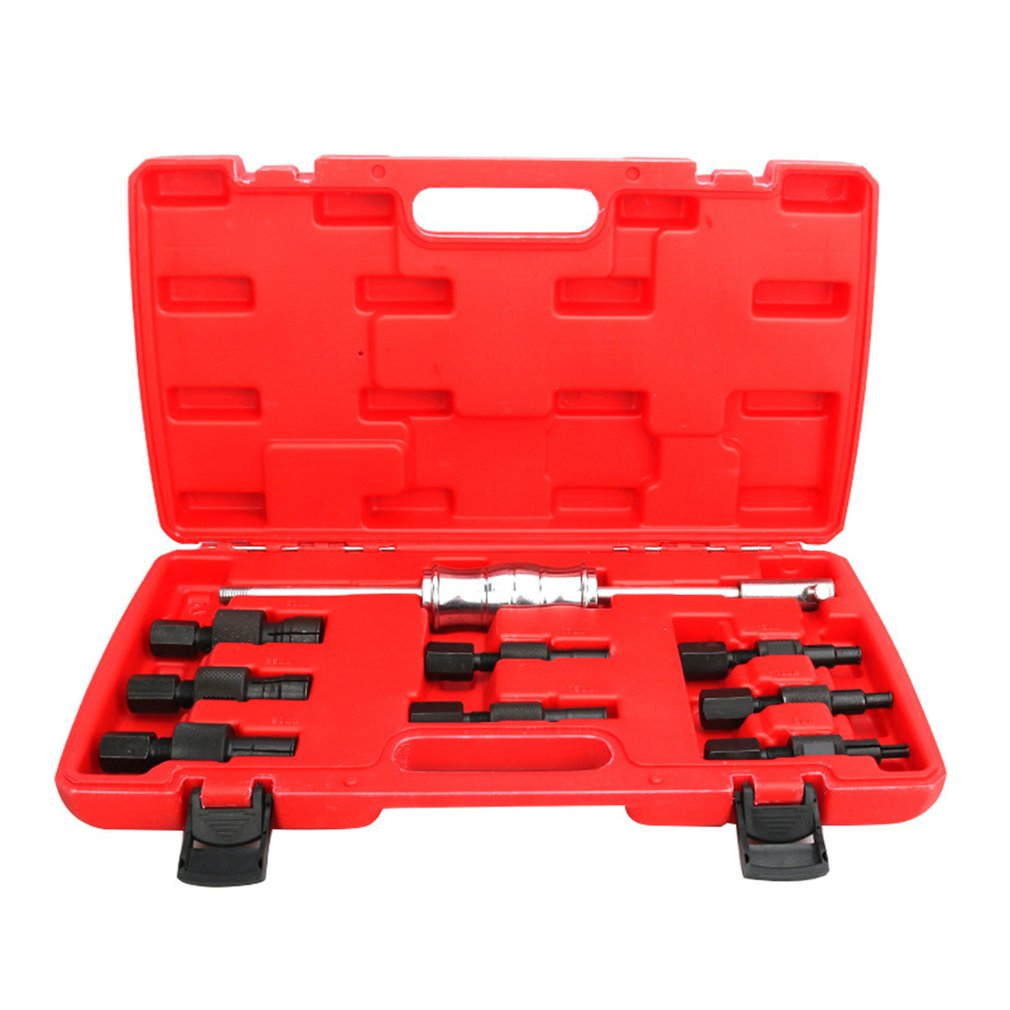 9pc Blind Hole Kit Slide Hammer Pilot Internal Bearing Puller Bearing Extractor Removal Kit Durable Professional Kits enlarge