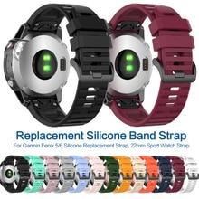 22mm Original WatchBand for Garmin Forerunner 945 935 Fenix 5 Plus Fenix 6 Silicone Smart Watch Band