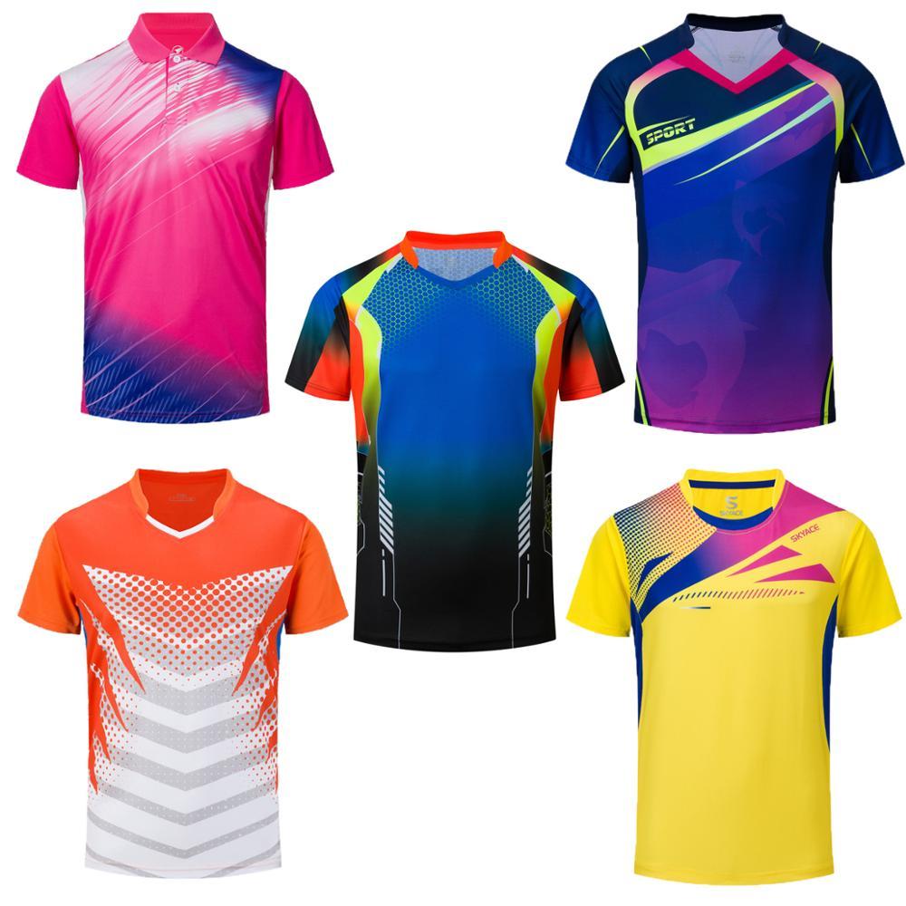 Camisa de Tênis Camisas de Tênis de Secagem Roupas de Badminton Jogos de Mesa t para Roupa Esportiva Masculina Rápida Meninas Masculinos