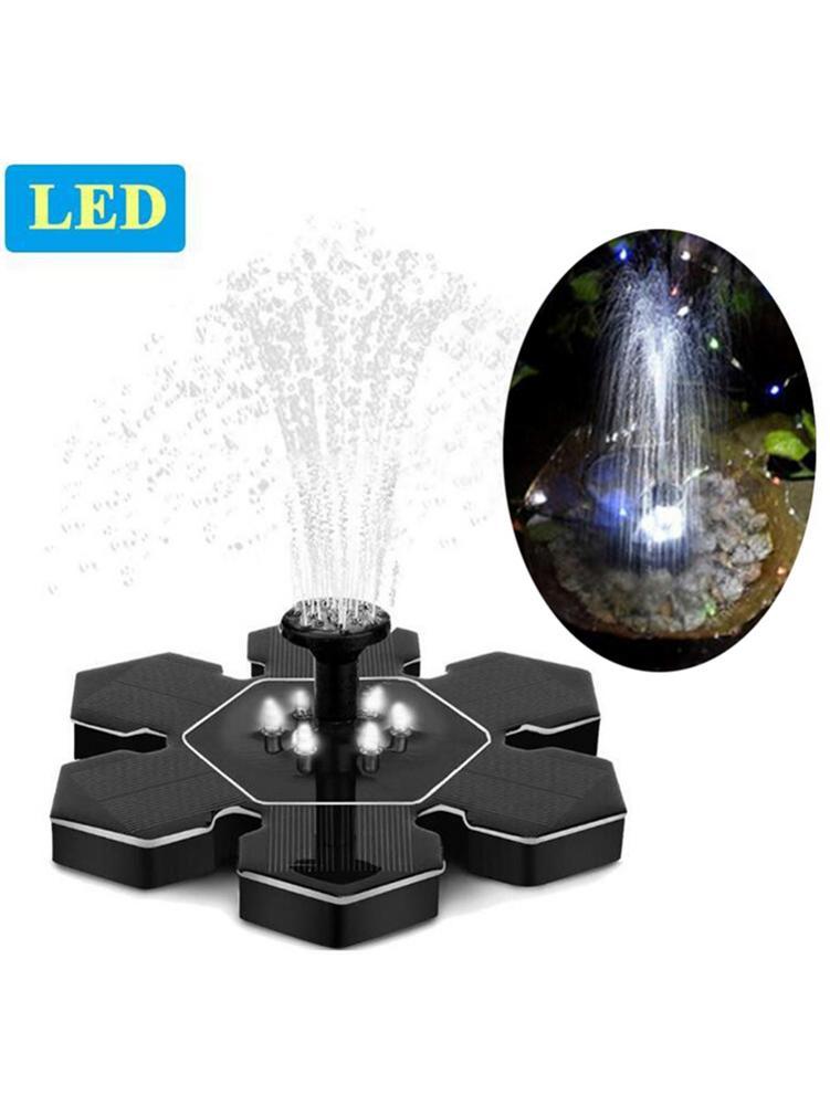 9 v 2.4 w jardim led solar fonte flutuante decoração do jardim fonte de água fonte de água alimentado solar fonte de água transporte da gota