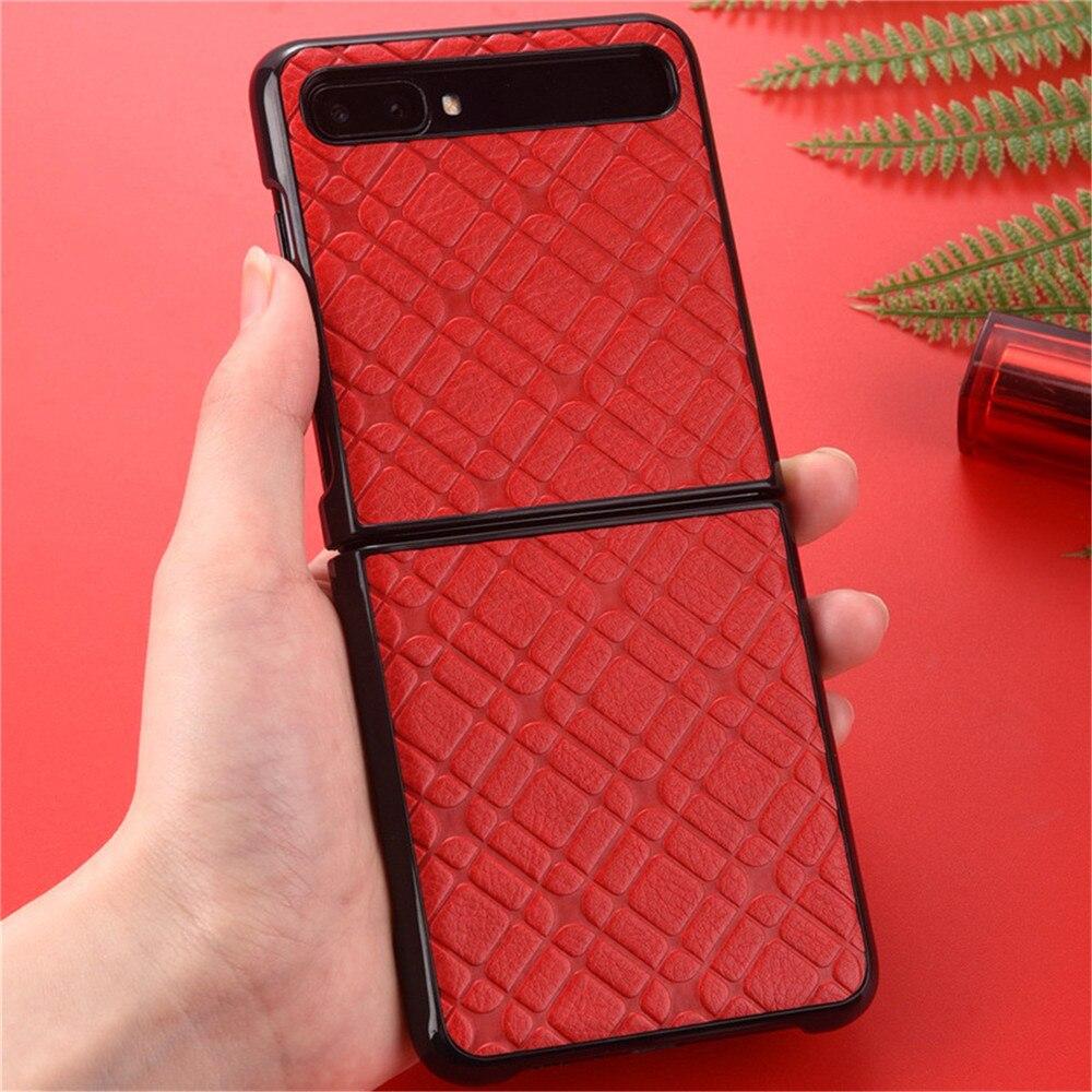 Мягкий кожаный чехол для телефона f7000 складной чехол для экрана Защитный чехол для Samsung Galaxy Z Флип Мобильный телефон Аксессуары