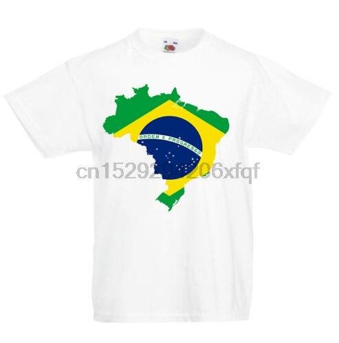Brasil niños camiseta país bandera mapa Top niños niñas Unisex