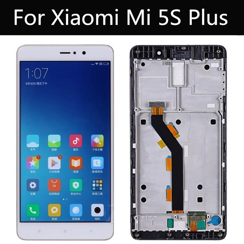 """¡Probado! Para Xiaomi 5S Plus LCD M5S más Mi5S plus 5,7 """"Pantalla LCD y la pantalla táctil con el marco de la Asamblea de reemplazo"""
