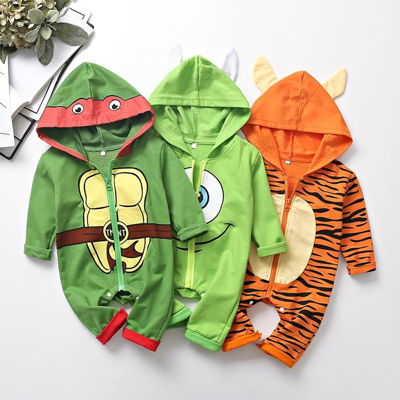 Mono Kawaii bebé Cosplay Mr. Q disfraz película monstruos Inc niños Anime tortuga Tigre monos Halloween cumpleaños ropa de abrigo