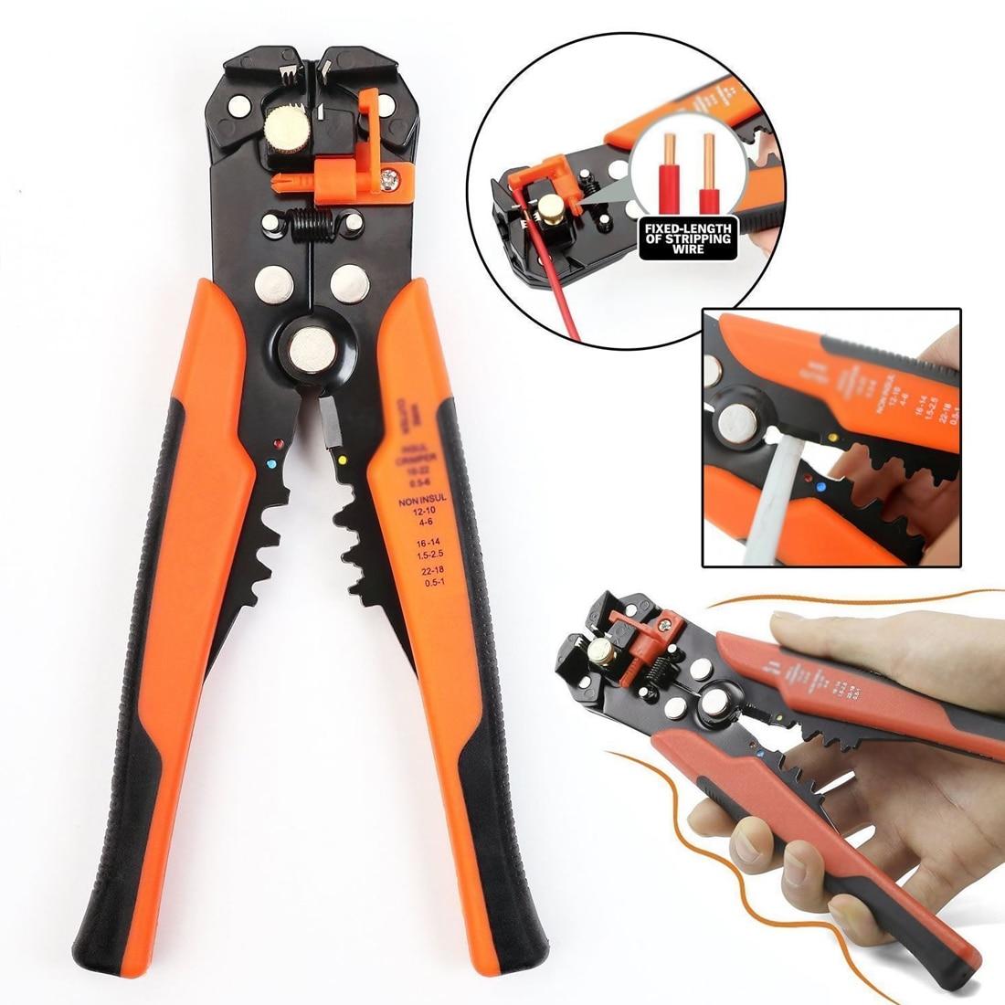 Многофункциональные инструменты для снятия изоляции обжимной инструмент для кабелей резак автоматический инструмент для зачистки провод...