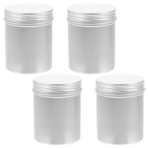 5pcs Travel Practical Multifunctional Hair Wax Container Tea Tin Can Storage Box