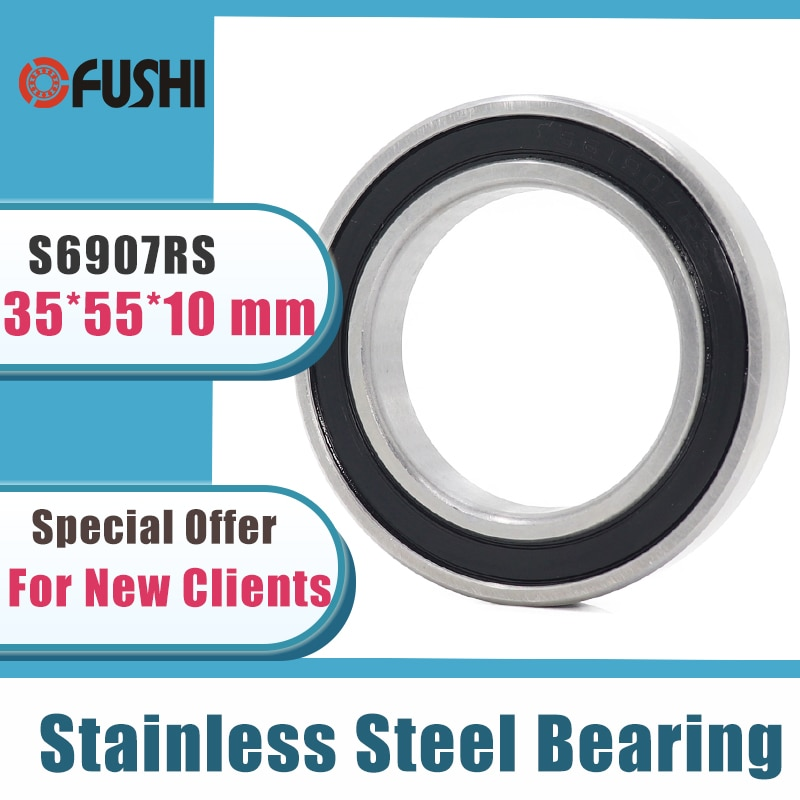 5 قطعة S6907RS تحمل 35*55*10mm ABEC-3 440C الفولاذ المقاوم للصدأ S 6907RS الكرات 6907 الفولاذ المقاوم للصدأ الكرة تحمل