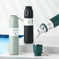 fashion 500ml large insulated bottle 304 stainless steel tumbler cups insulated lids hot water thermos sports water bottle
