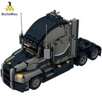 buildmoc 12660 high tech engineering dump truck building blocks vehicle car bricks set educational diy toys for children boys