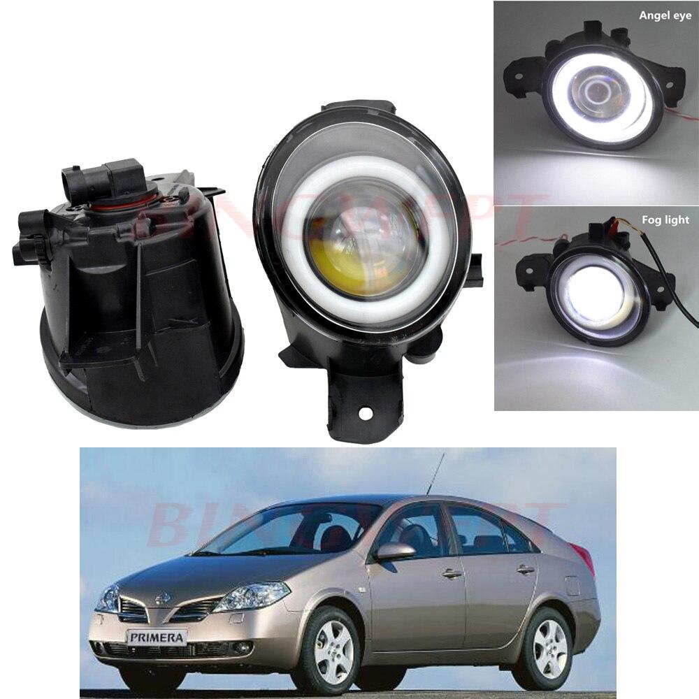 2 uds. Conjunto de faros antiniebla LED superbrillantes con ojo de Ángel para NISSAN PRIMERA WP12 P12 2002 2003 2004 2005 2006 2007- 2015