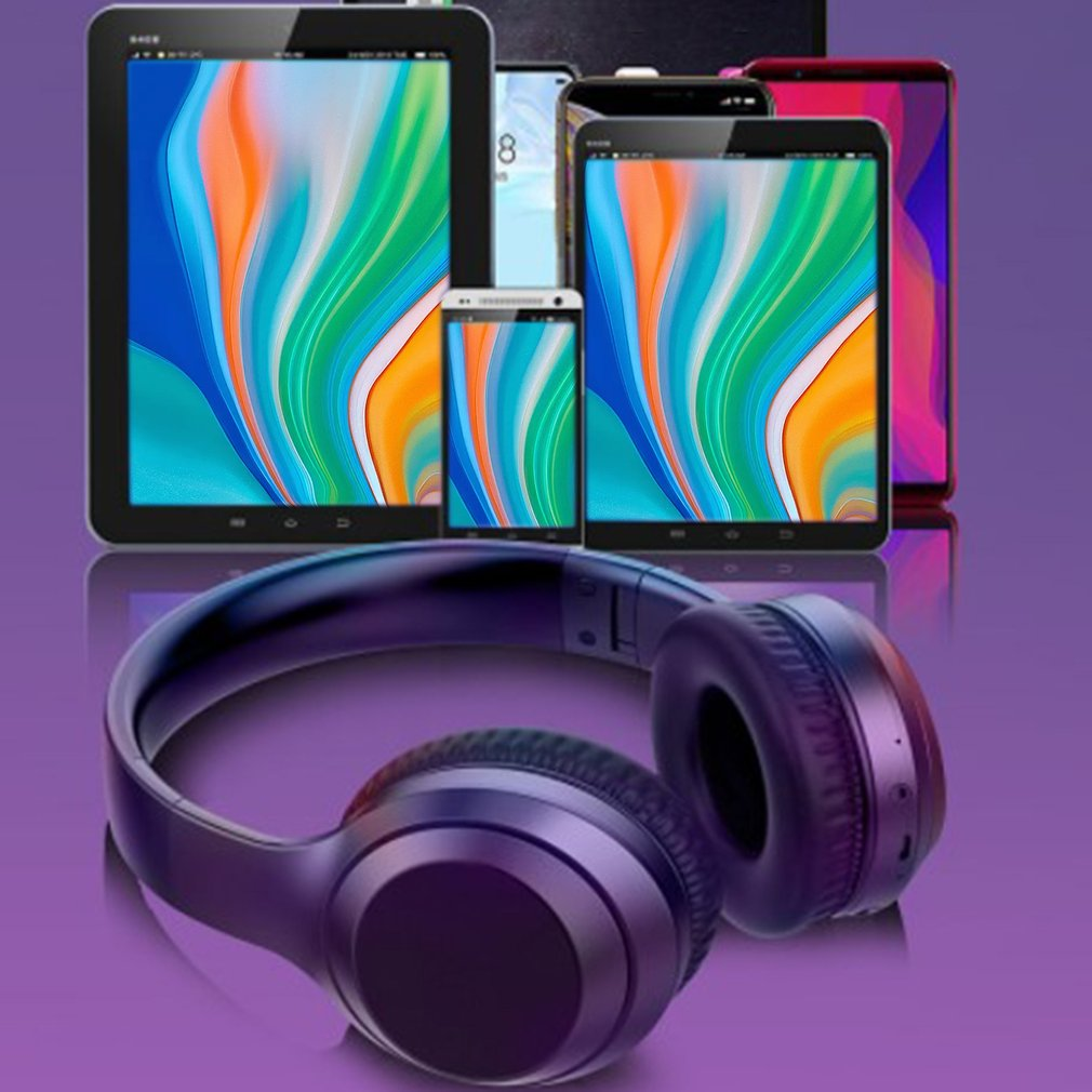 Wireless Headphones Foldable Active Noise Canceling Audio Device Hifi Deep Bass with Microphone for Music enlarge