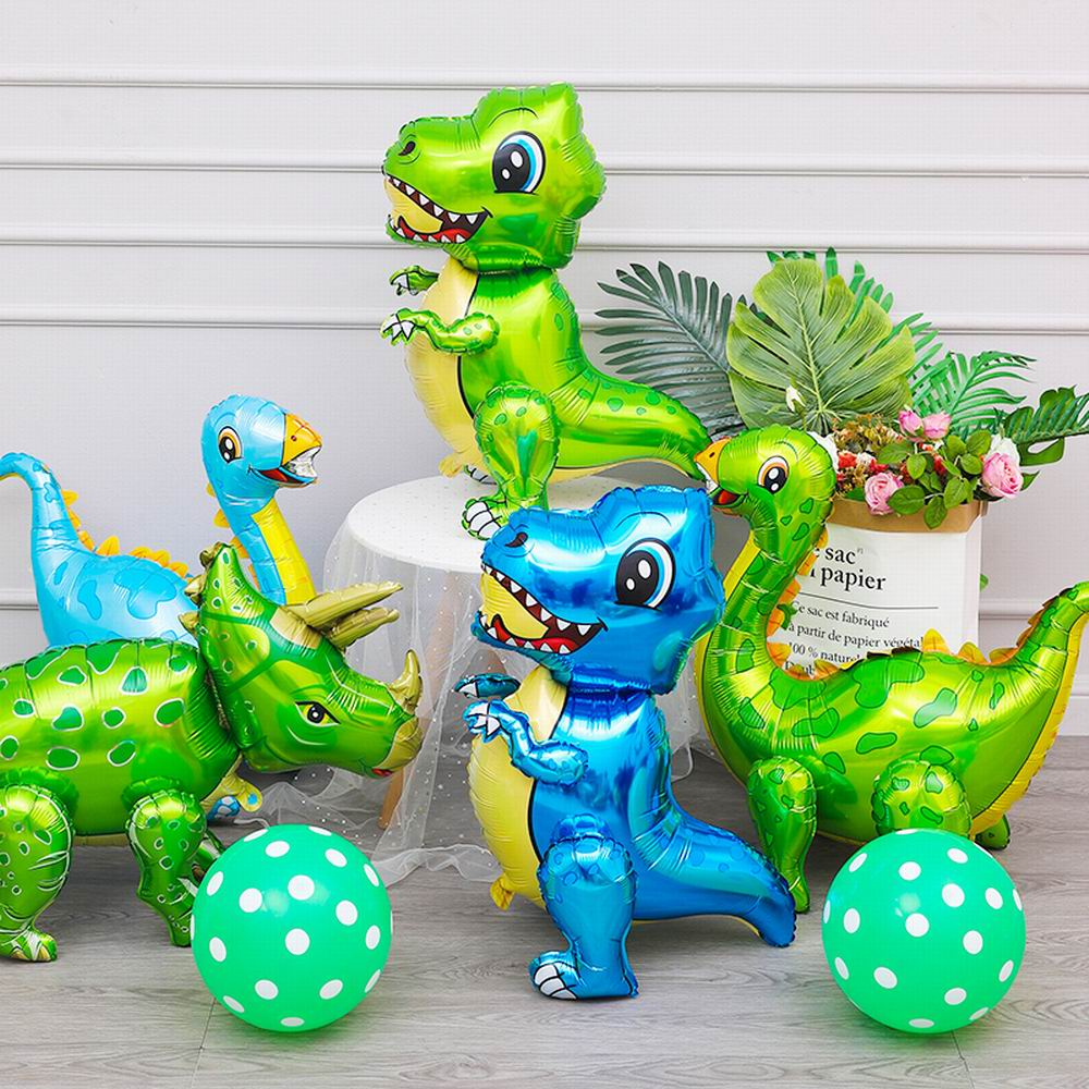 AliExpress - 1PC 4D Standing Green Dinosaur Foil Balloons Birthday Decoration Dinosaur Party Baloons Jungle Animal Party Baby Shower Globos