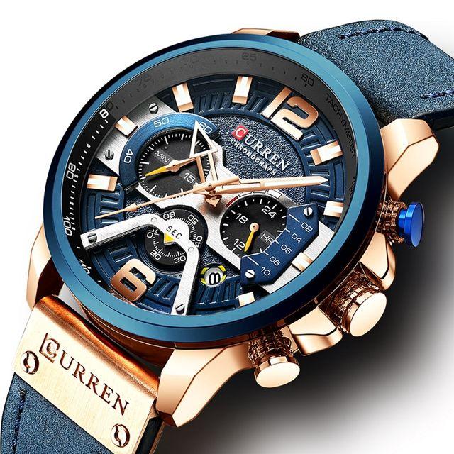 New 8329 men's watch waterproof belt watch calendar men's watch six pin quartz watch