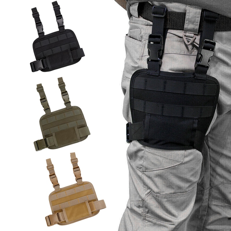 Tactical Drop Leg MOLLE Platform Thigh Rig Panel for Magazine Pouch Holster Hunting Pistol Gun accessories army tactical carrier armor chest rig vest harness rifle pistol magazine pouch crx hunting equipment accessories 5 56