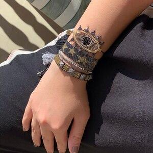 Браслет BLUESTAR «Турецкий глаз», браслеты с бусинами «Миюки», модные браслеты со звездами, женская мода, браслет ручной работы «Миюки»