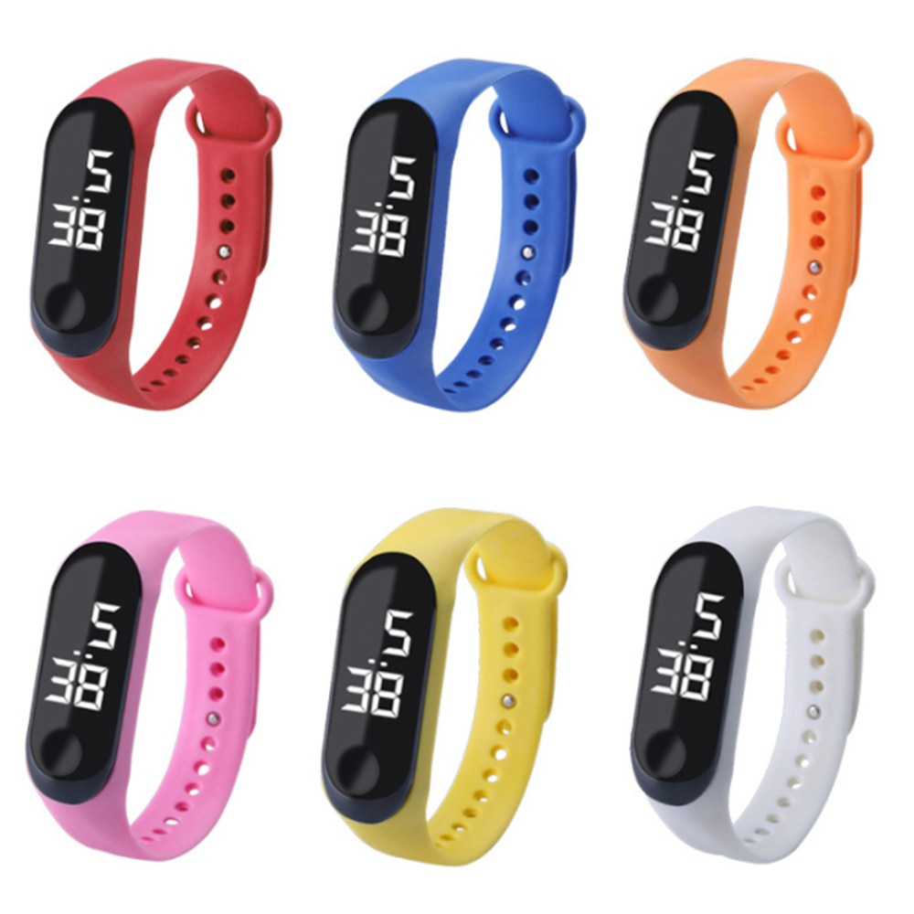 Children's Watch Led Touch Watches Electronic Watch Bracelet Student Sports Bracelet Watch for Boy G