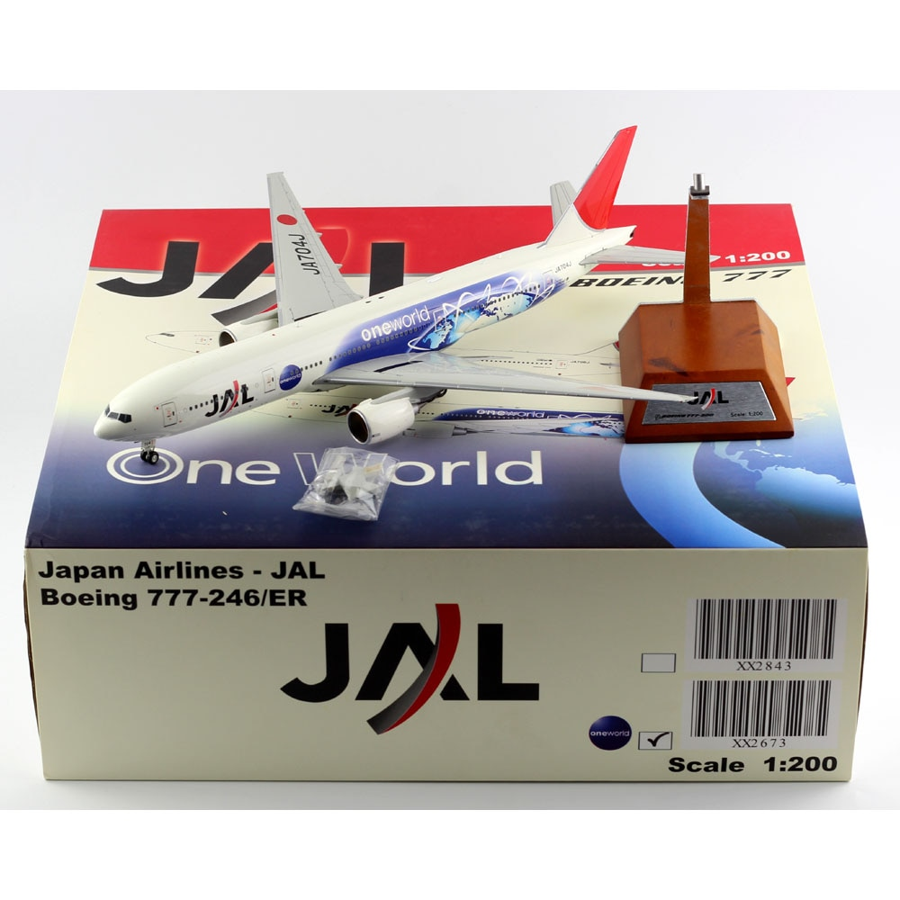 """1:200 Alloy Collectible Plane Gift JC Wings XX2673 JAL Airlines """"One World"""" Boeing B777-200 Diecast Aircarft Jet Model JA704J"""