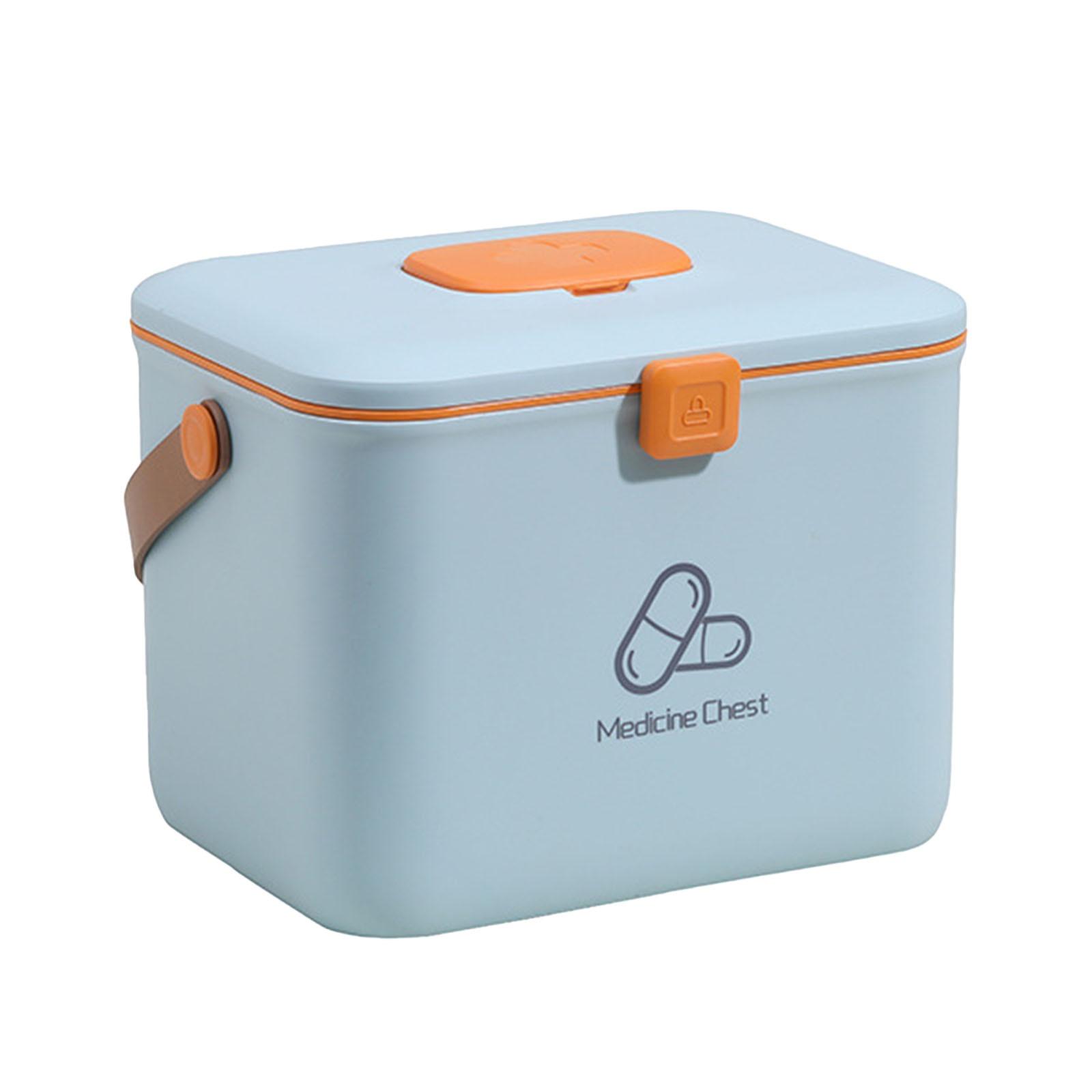 البلاستيك الإسعافات الأولية صندوق تخزين الأسرة الطب الحاويات بن مع زجاجات مياه بمقبض محمول طبقات مزدوجة الطوارئ طقم أدوات طبية